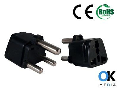 CoöPeratieve 2 X Eu Uk To South Africa Travel Adaptor Type M Power Plug Converter Adapter