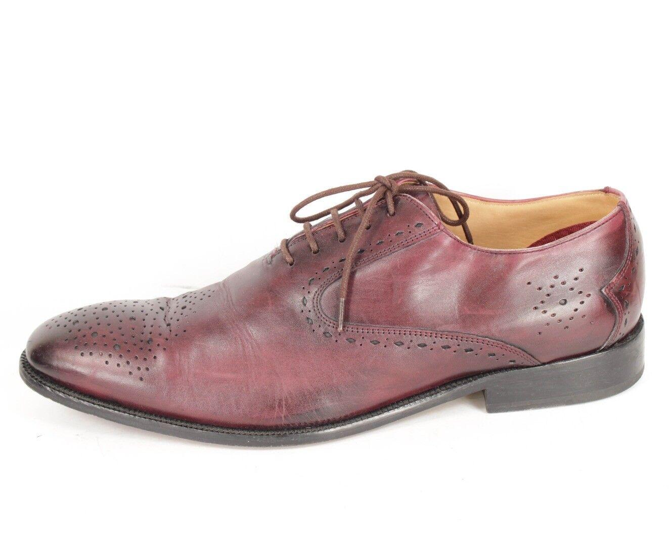 BEN SHERMAN Beautiful dettaglio abito  di Borgogna Scarpe di scarpe Sz.US 10 M  fornire un prodotto di qualità