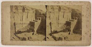 Egitto Archeologia Egiziana Foto Frith Foto Stereo Vintage Albumina c1860