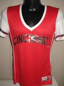 Image is loading MLB-Cincinnati-Reds-Baseball-Fashion-Jersey-Top-Shirt- 13c2d2afedf
