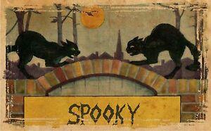 Spooky-Black-Cats-Spooky-Halloween-Window-or-Door-Decals-4-034-x-6-034-16-034-x-24-034