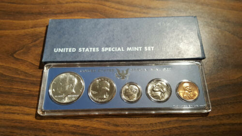 1966 US Coin Special Mint Set 40/% Silver Kennedy Half Birth Year Free Shipping 2