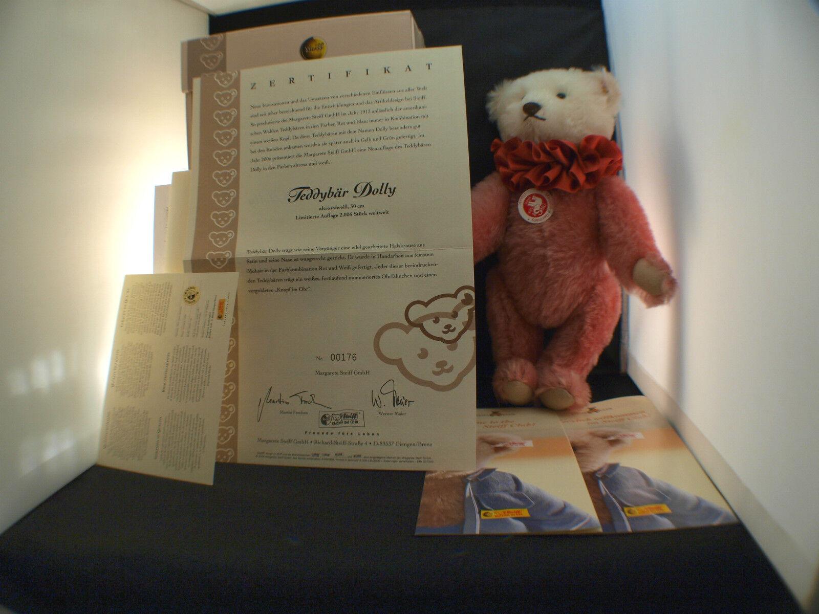 Steiff 037542 Teddy Bear Dolly nounours ours en peluche 30 cm neuf en boite 2006