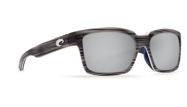 96ab80762c Costa Del Mar Playa PY 100 Matte Silver Teak Square Sunglasses Blue 580g