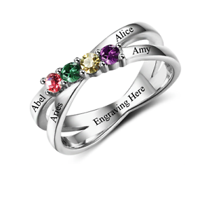 Size-6-Personalised-925-Sterling-Silver-Ring-Crossover-Band-add-Names-amp-Engrave