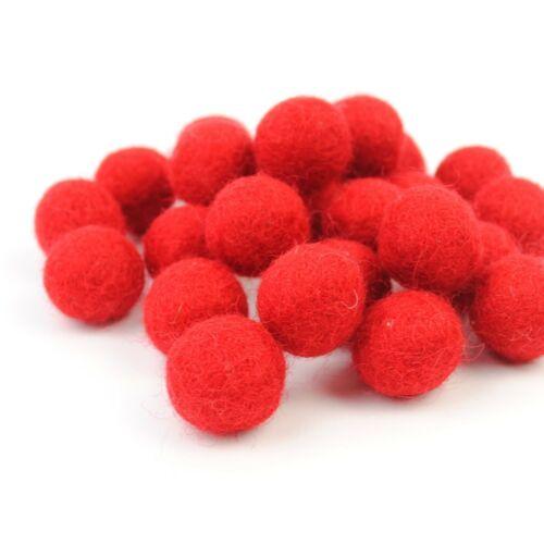 Wool Felt Balls 2cm or 1cm diameter Pack of 20 GARLAND MAKING