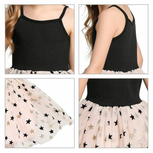 Star Dress For Baby Girls Toddler Cotton Clothing Children Sequined Dresses