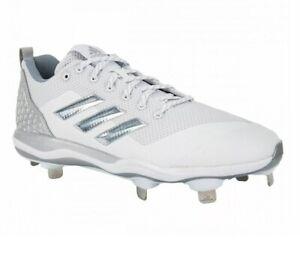 white adidas metal baseball cleats