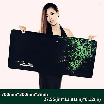1 x Groß Mauspad Mousepad für pro-Gaming- Maus Pad schwarz