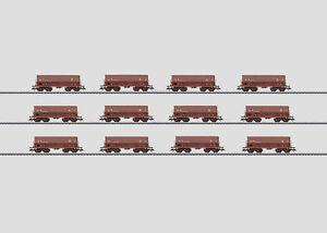 Marklin-00768-ecran-avec-12-erzwagen-034-mineraliers-034-de-la-sncb-neu-en-OVP