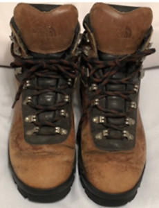 THE NORTH FACE Women's Hiking Boots Brown Leather X-2 Lace Up  Sz 7 US 38 EU