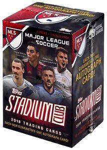 MLS Soccer Topps 2018 Stadium Club Major League Soccer Trading Card BLASTER Box