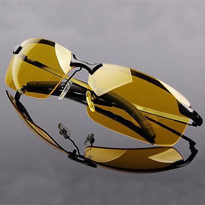 Mens Sunglasses HD Polarized Night Vision Glasses Aviator Eyewear Sport Driving