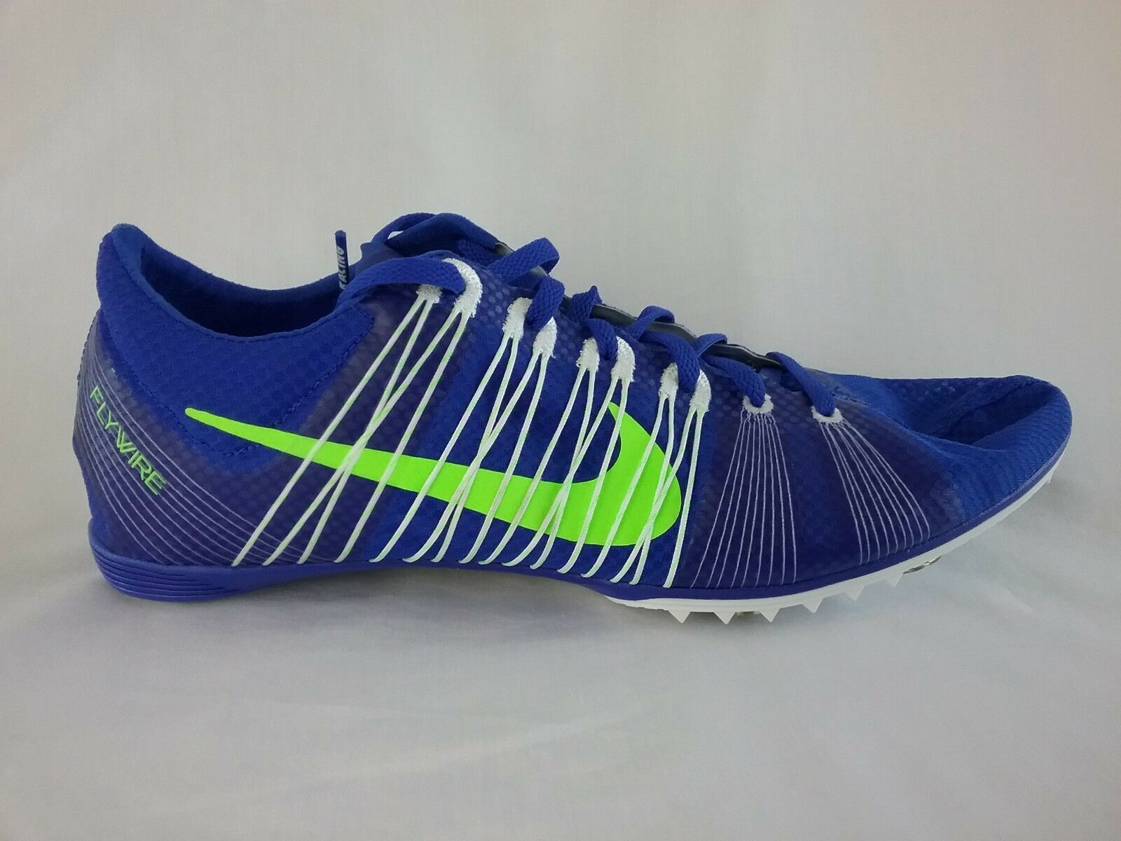 Nike Zoom Victory 2 Middle Distance Track XC shoes, bluee w Green Swoosh, 13