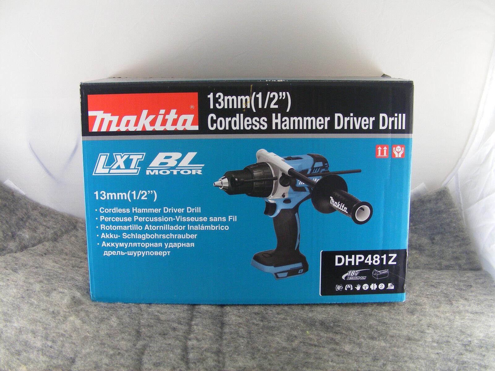 ORIGINAL MAKITA Akku-Schlagbohrschrauber DHP481Z ohne Akku ohne Ladegerät