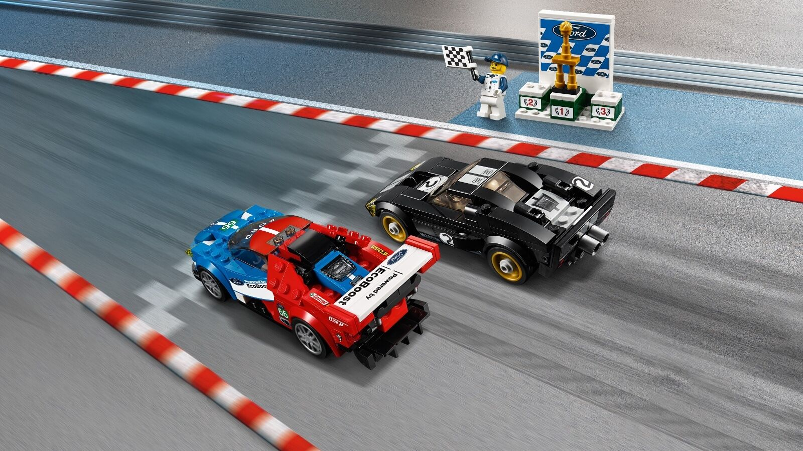 LEGO® Speed Champions 75881 2016 Ford 1966 GT & 1966 Ford Ford GT40 NEU OVP NEW MISB 913467