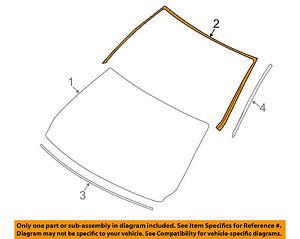 BMW-OEM-07-10-335i-Windshield-Reveal-Surround-Molding-Trim-51317150646