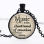 La musique est la Sténographie en verre noir cabochon Chaîne Collier Sautoir Pendentif Wholesale