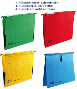 5x-Haengemappe-Haengetasche-Haengehefter-fuer-Haengeregistratur-Mappen-Hefter-Zubehoer