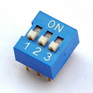 10x 3 Way DIP Switch 3 Position 6 pin PCB Mountable eBay