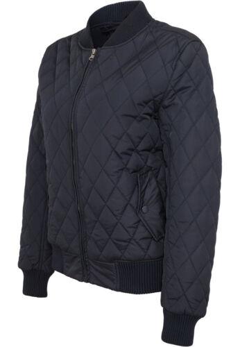 Urban Classics Damen Diamond Quilt Nylon Jacke Stepp Jacke College Ma1 Bomber
