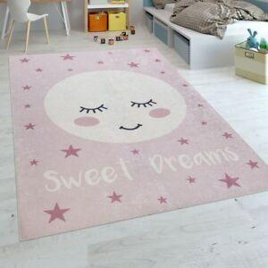 Tapis Enfant Chambre Enfant Filles Lavable Étoiles Mignon Lune ...