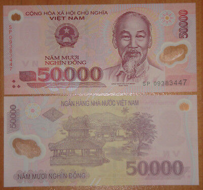 VIETNAM Polymer Plastic Banknote 10000 Dong UNC