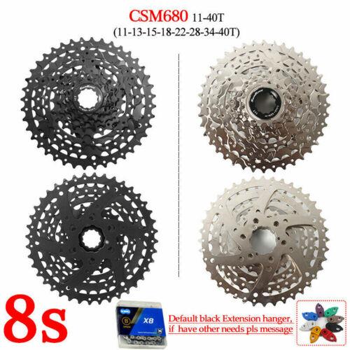 """SUNRACE 8-11s MTB Bike 40//42//46T Cogs Removable Cassette KMC /""""X/"""" Chain Tail Hook"""