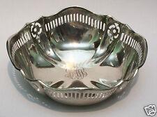 Vintage Solid Sterling Silver Ornate Pierced Bon Bon Dish Bowl 70g