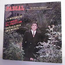 """33T PASCAL Disque LP 12"""" AU SON DES GUITARES Acc. Antoine BONELLI ses Guitares"""