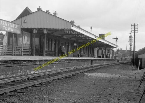 Barnstaple Town Railway Station Photo.Wrafton /& Ilfracombe Line 8 L/&SWR