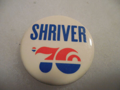 Presidential Pin Back Campaign Button Sargent Shriver VP McGovern President 1976
