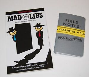 Spy-Mad-Libs-2-Pack-Special-Agent-Field-Notes-Note-Books-Loot-Crate-Word-Game