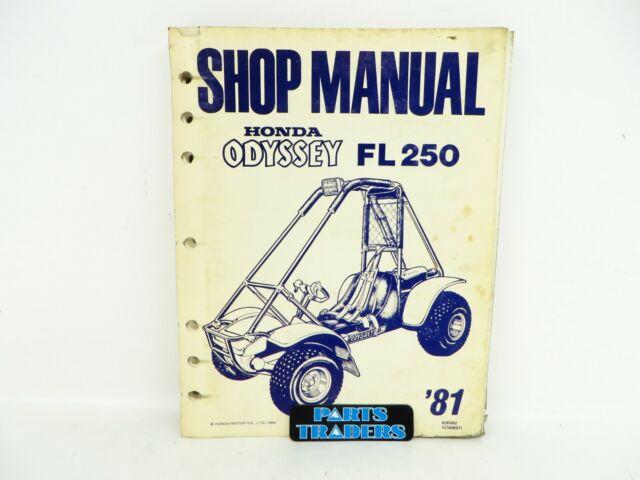 Oem Genuine Honda Dealer Shop Service Repair Manual Fl250