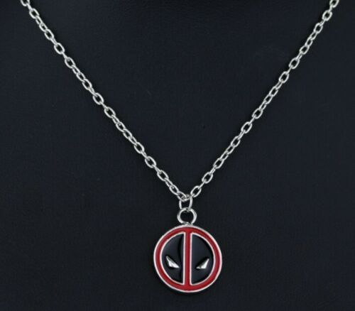 Deadpool Chain Necklace Marvel Pendant  Cosplay fan Birthday Christmas 731