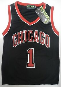 ae1351f9d4d2 Image is loading Victory-League-Boys-NBA-Chicago-Bulls-1-Jersey