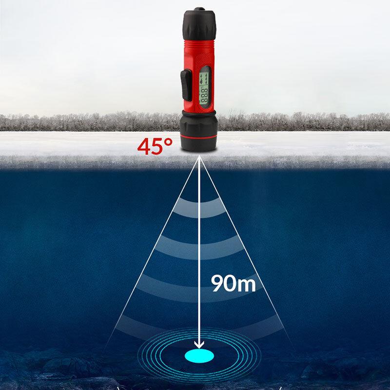 Tragbare Fischfinder Tiefe Sonar Fishfinder LCD Display Ice Canoe Angeln 90M
