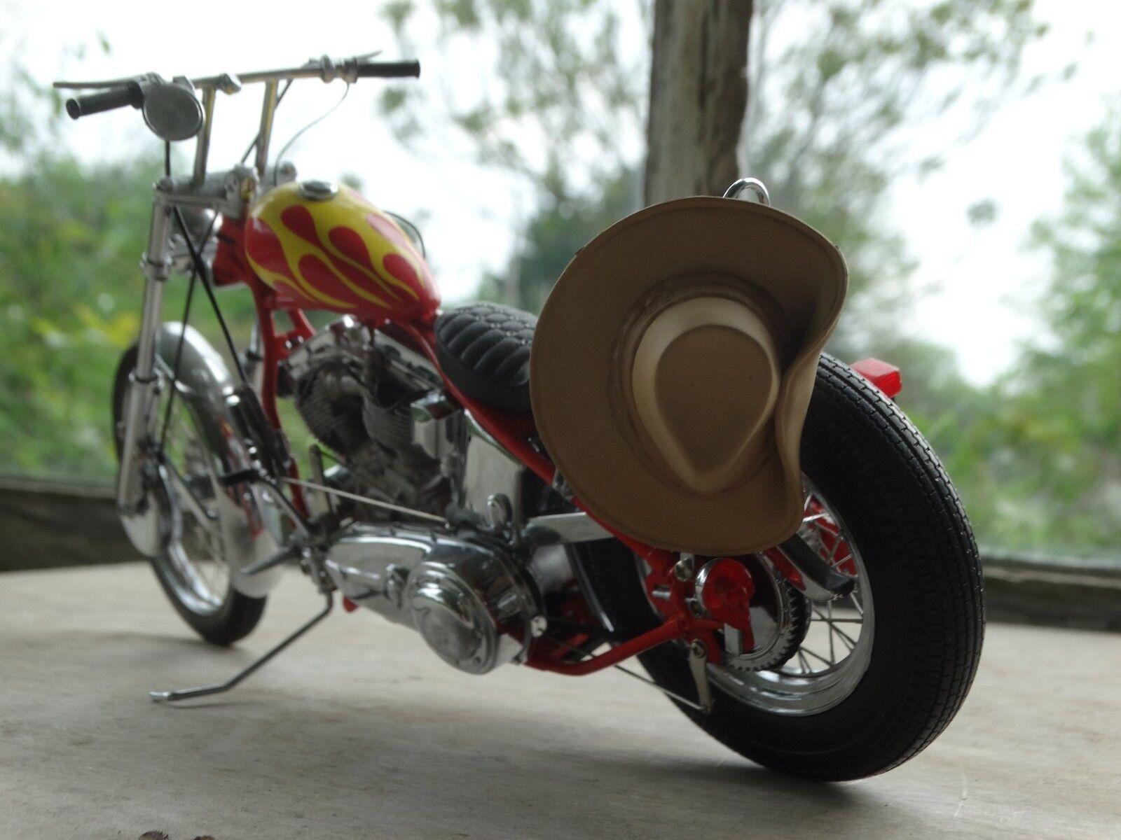 Franklin Mint Harley Davidson Easy Rider Billy Bike 1 10 Diecast 1950 Motorcycle