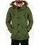 Giubbotto-Parka-Uomo-Invernale-Sfoderabile-pelliccia-cappuccio-lungo-verde miniatura 19