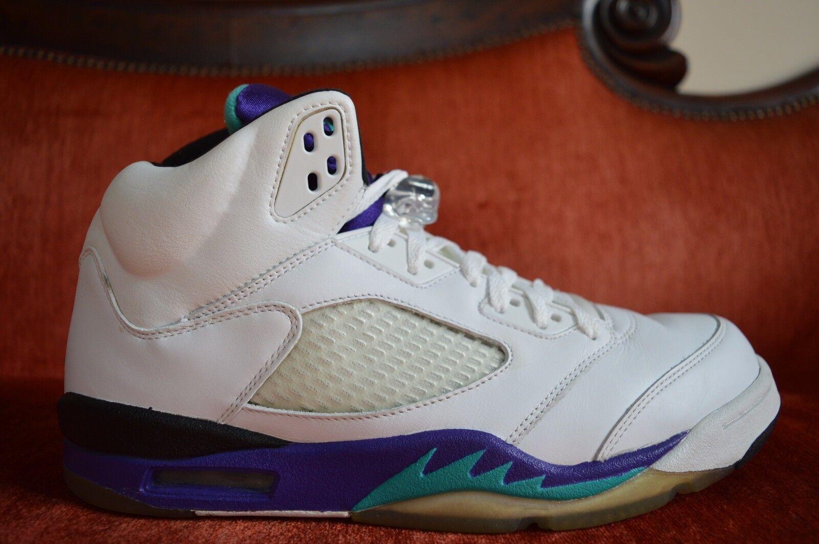 WORN TWICE TWICE TWICE Nike Air Jordan Retro V 5 Size 11 2006 LS White Grape Emerald Bred c9134f