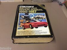 CHILTON'S IMPORT CAR REPAIR MANUAL 1980-1987