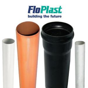 110mm Underground 3m Length Pipe Drain Drainage Single Socket Per Length x 1