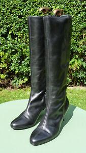 tacco da in Bennett Taglia pelle con gamba lunghi Stivali 8 sottile nera Uk c21 Eu 41 L K YFqnwxHqv