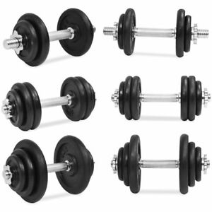 vidaXL-Dumbbell-Set-Cast-Iron-Gym-Exercise-Training-Free-Weight-Multi-Models