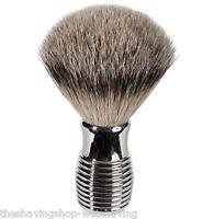 Luxury Badger Shaving Brush W/nickel Plated Handle