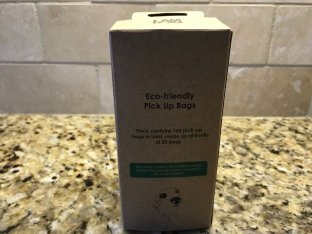 Dog Poop Bags Eco Friendly 160 Pick Up Waste Refill 8 Rolls Of 20 Bags Green