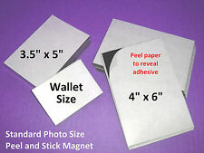 25 Self Adhesive Flexible Magnetic Sheets Wallet size, USA made - FREE shipping
