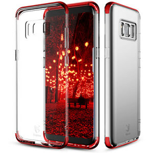 new product f47c2 d415a Details about For Samsung Galaxy S8 Clear Back Bumper Phone Case  Cover+Black Tempered Glass