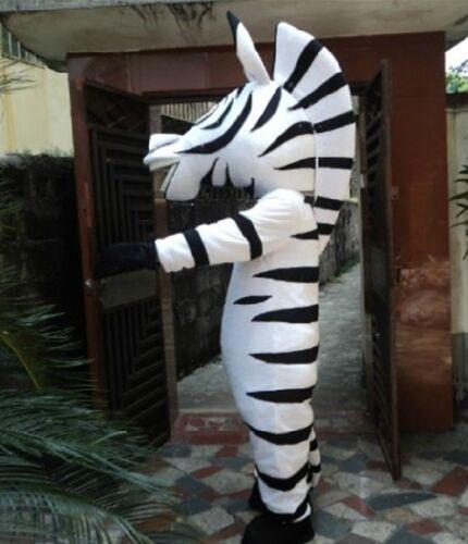 New Zebra Mascot Costume Fancy Dress Adult Suit Size R48