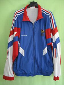 Détails sur Veste Equipe France 1992 Adidas Vintage Nylon Jacket Homme Football 186 XL